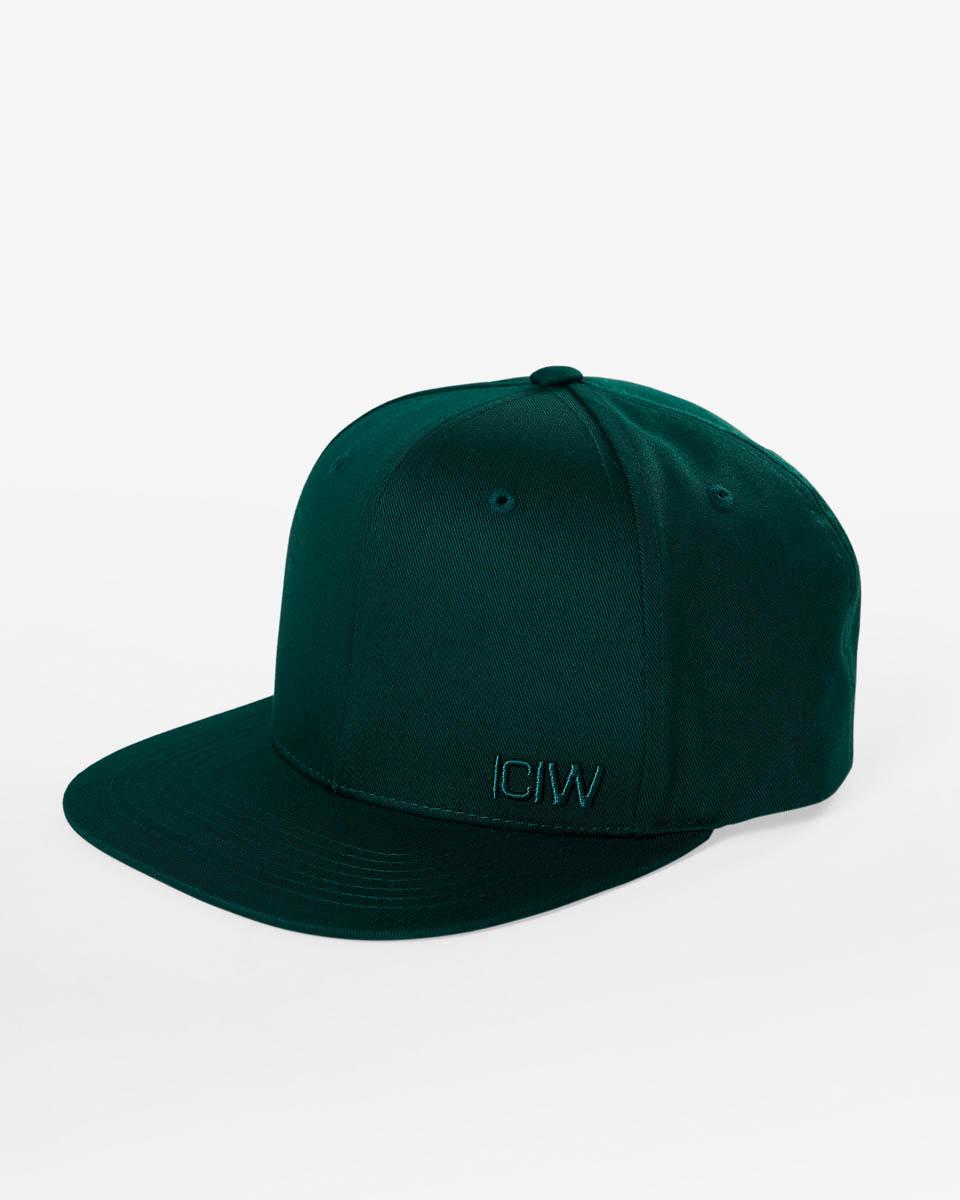 Clean Snapback Cap Dk Green