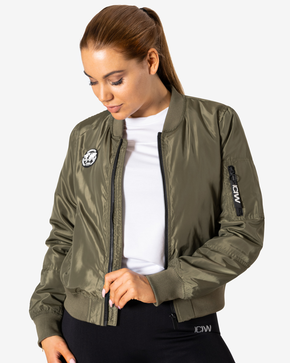 Lifestyle Bomber Jacket Army Green Wmn