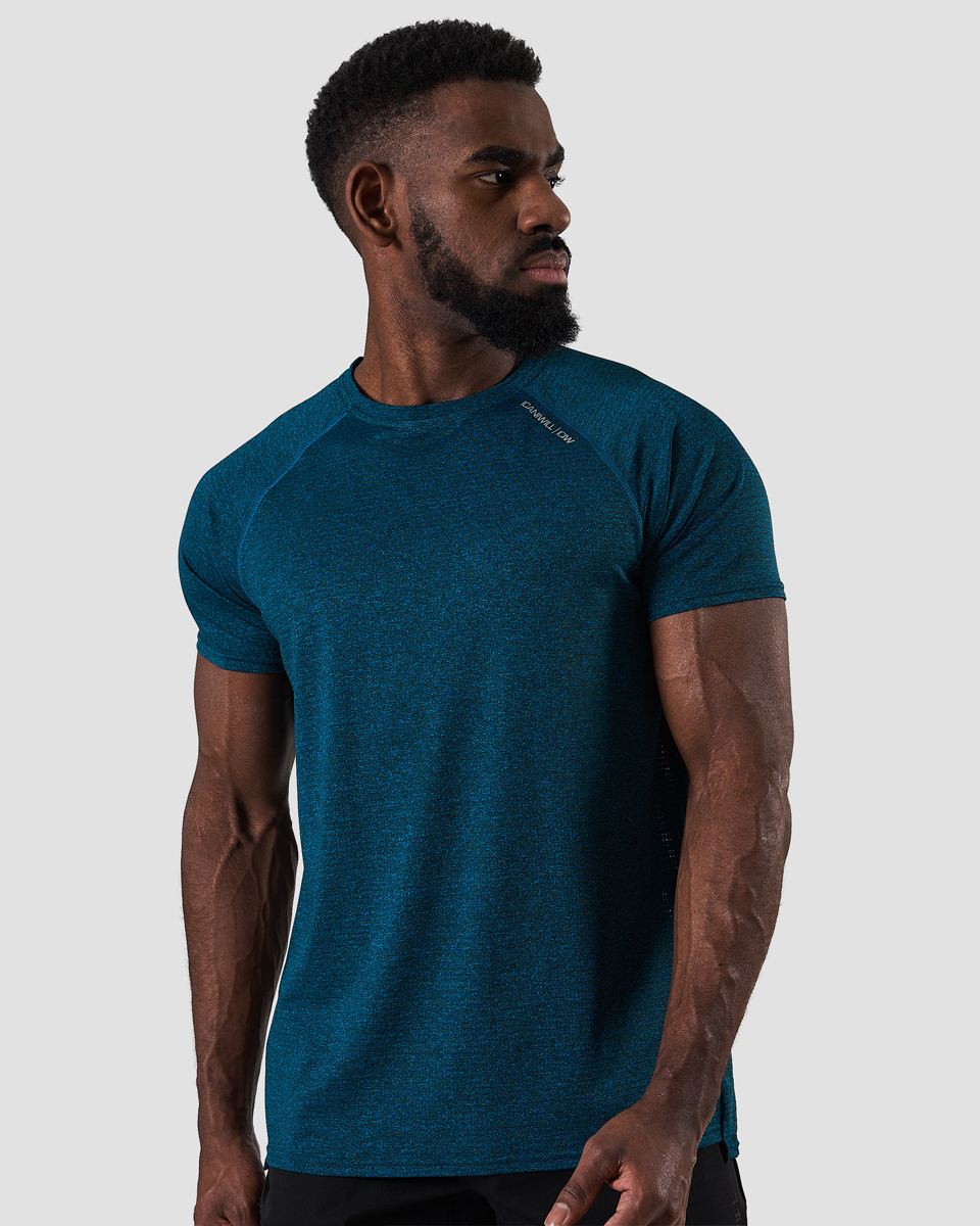 Training Mesh T-shirt v2 Dk Teal Melange Men