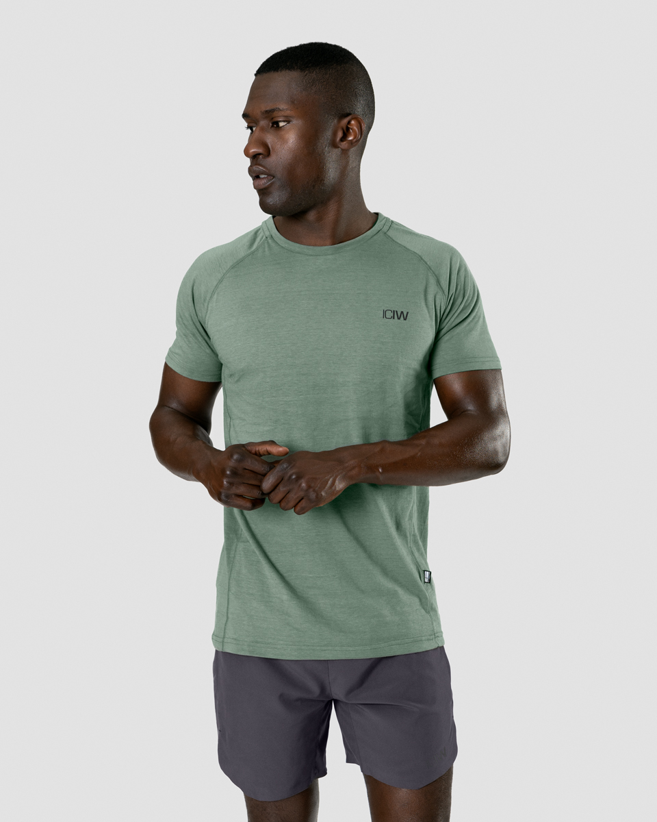 Training Tri-Blend T-Shirt Racing Green Men