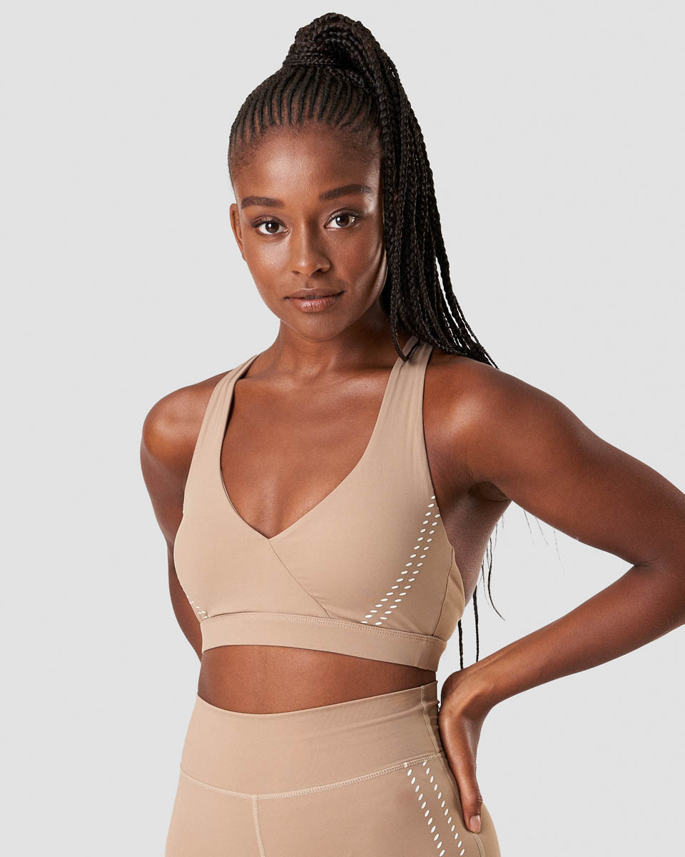 Inhale Sports Bra Sand