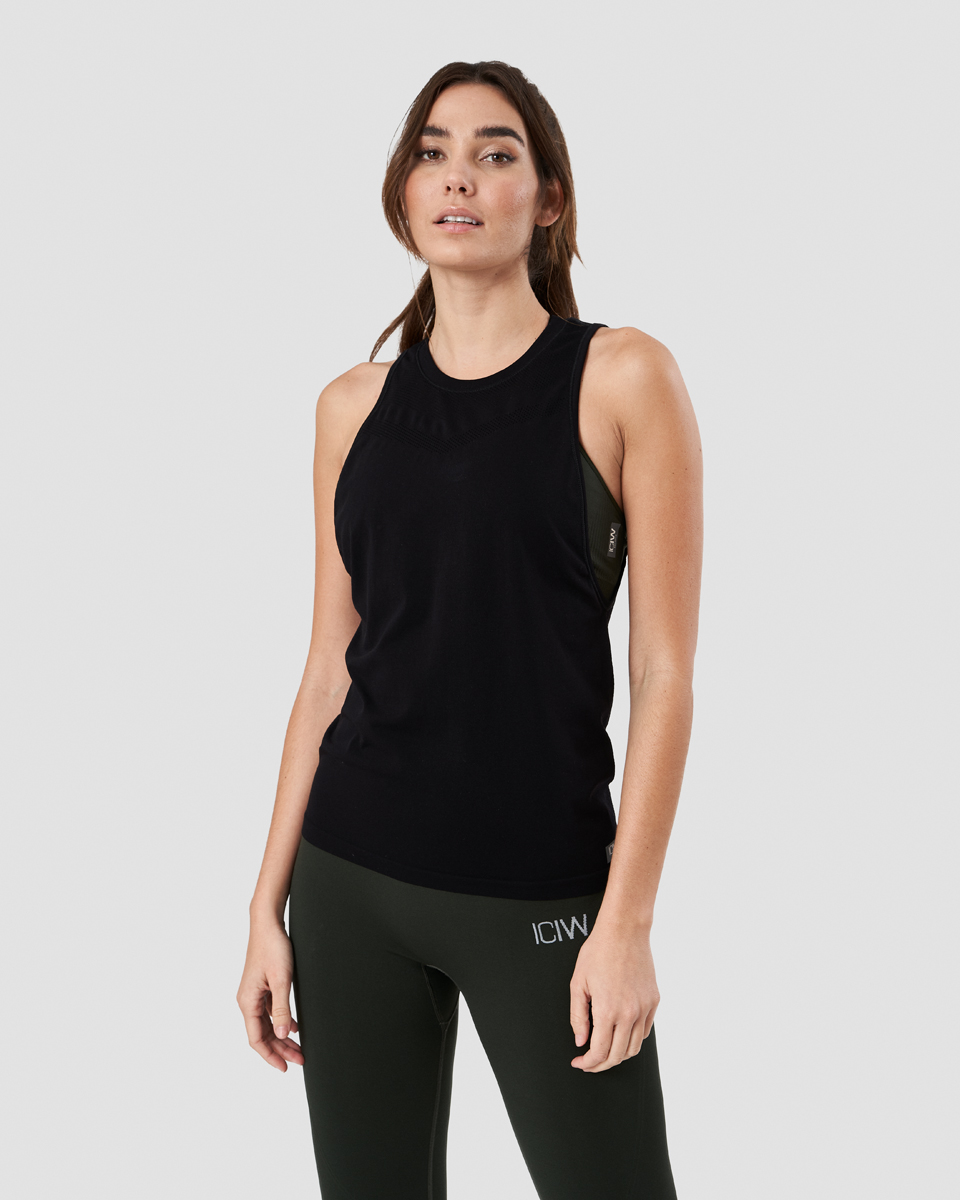 Deluxe Seamless Tank Top Black