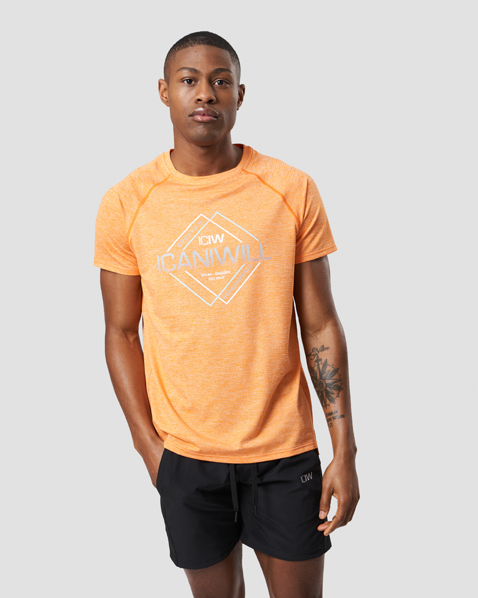 Training Mesh Graphic Tee Fire Orange Men