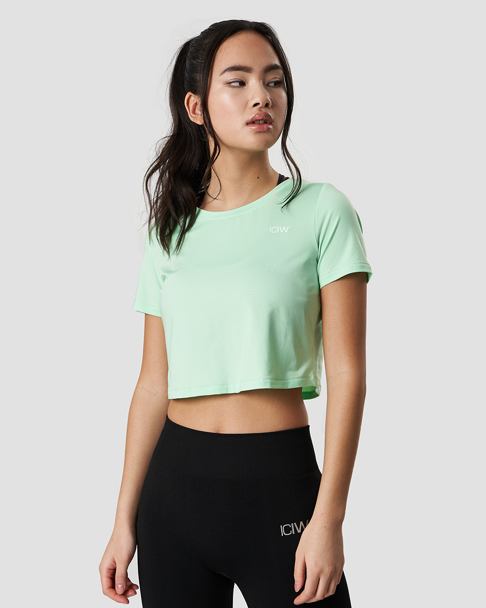 Training Crop Top Spring Green Wmn